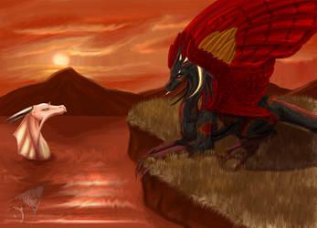 Dragons by ParanoidNebula