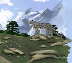 Snow Leopard by ParanoidNebula