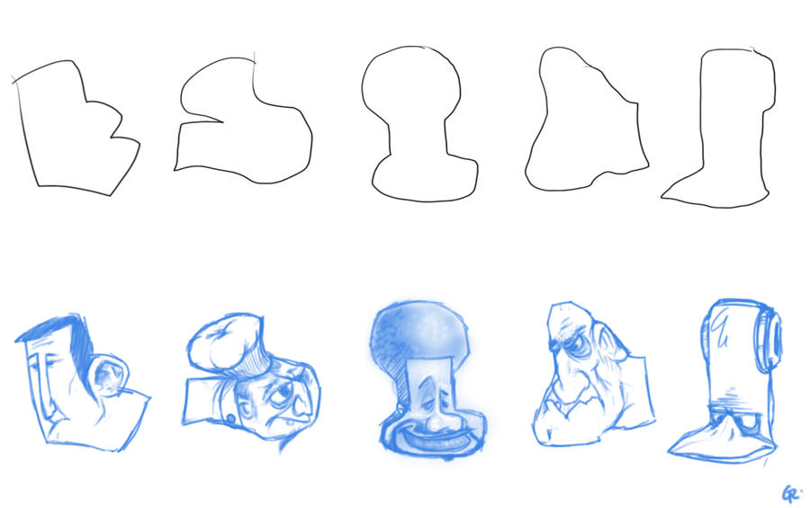 DAC shapes sketches by GuillermoRamirez