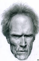 Clint Eastwood portrait by GuillermoRamirez