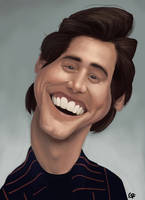 Jim Carrey caricature by GuillermoRamirez