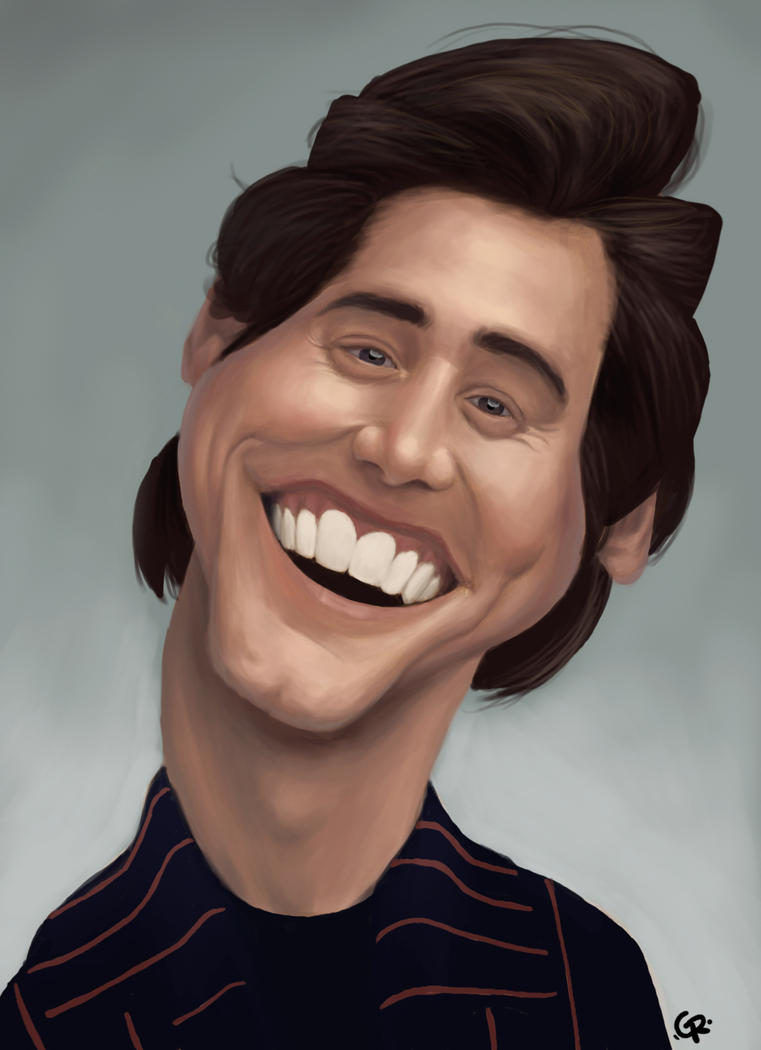 Jim Carrey caricature by GuillermoRamirez