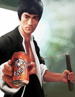 Commission - Bruce Lee by GuillermoRamirez