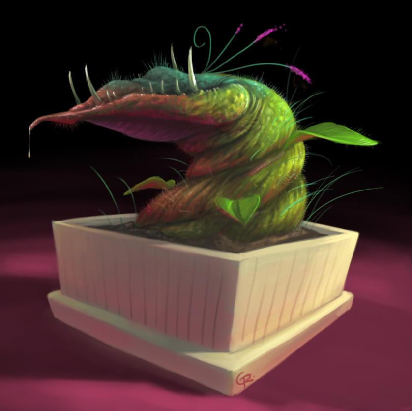 Carnivorous plant concept art by GuillermoRamirez