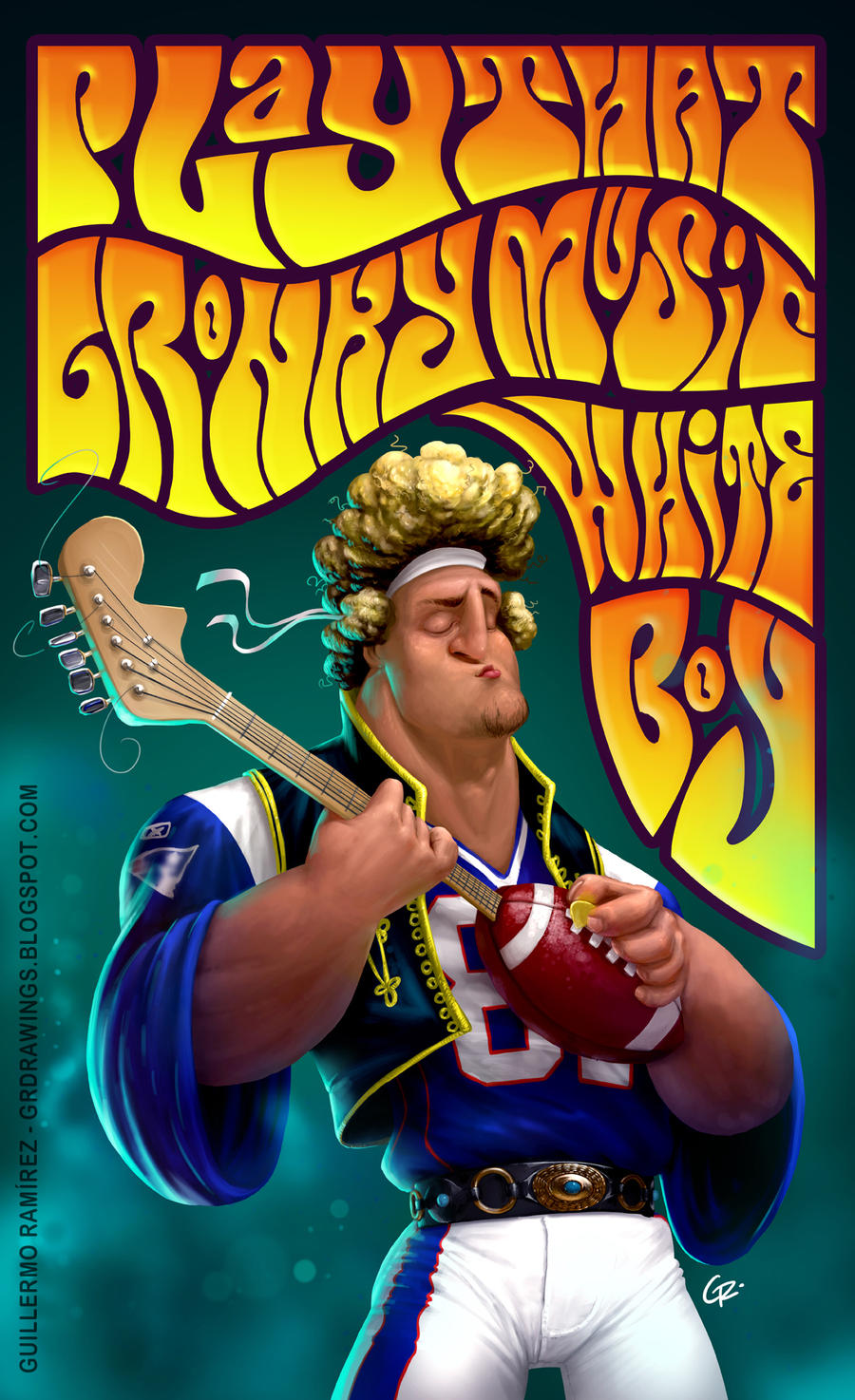 Rob Gronkowski commission by GuillermoRamirez