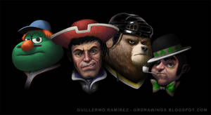 Boston Sports Mascots - commission