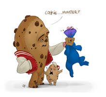 Cookie monster by GuillermoRamirez