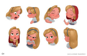 Red Riding Hood - expressions by GuillermoRamirez