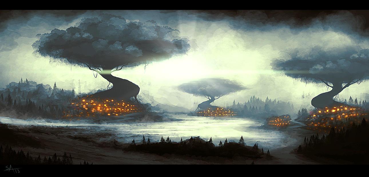 Nebula Town by ShahabAlizadeh
