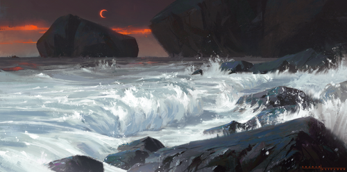Crimson Moon - Painting practice/sketch