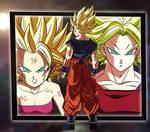 Kale y Caulifla vs Goku (Fusion Kefura)