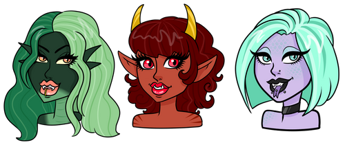 Beauty comes in THREES adopts - CLOSED by Supertato