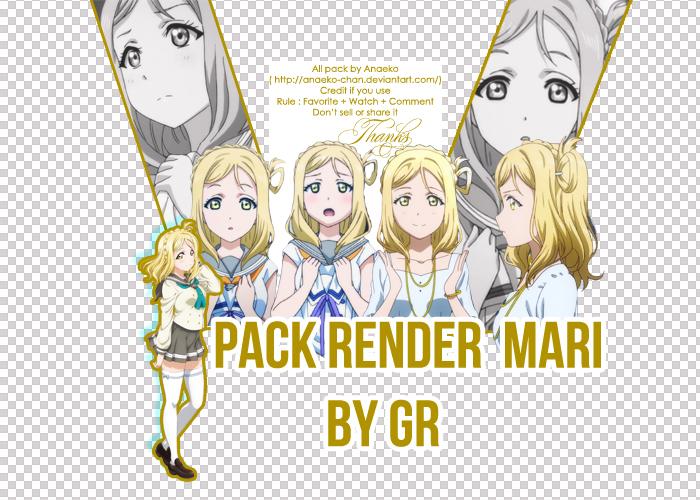 [Share] Pack Render Mari by Anaeko (Gr) by Anaeko-Chan
