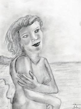 A Walk Down the Beach Sketch