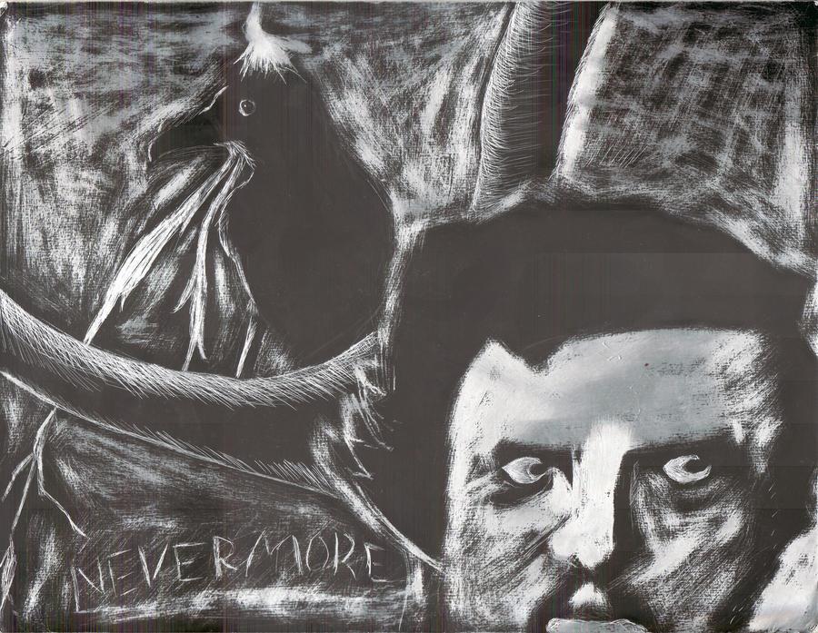 Edgar Allen Poe_Nevermore by Dreamerzina