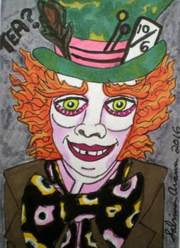 Alice In Wonderland-Mad Hatter-T Burton ATC 6.9.16