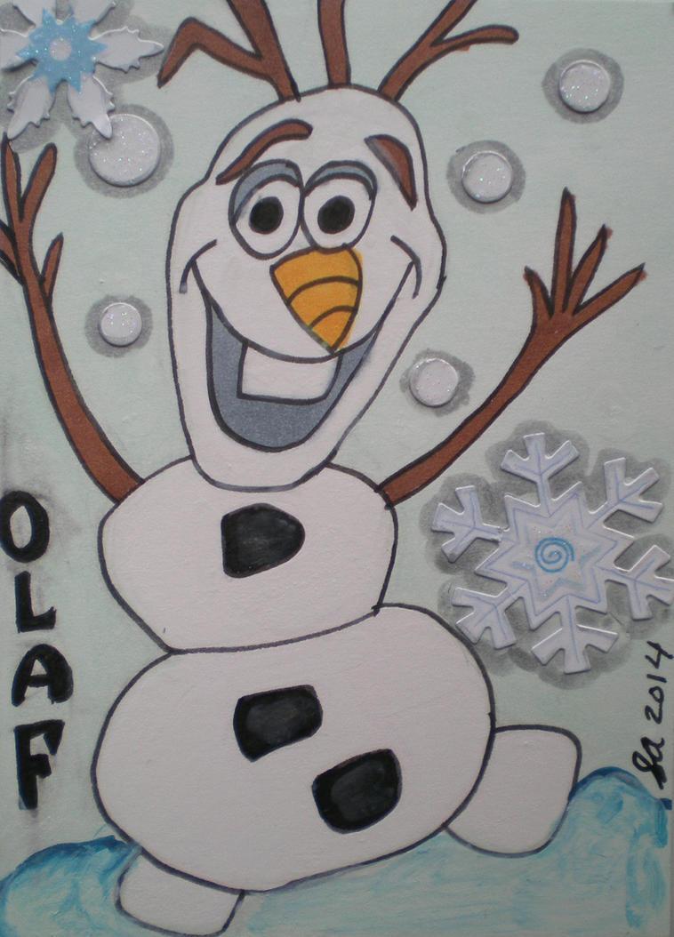 Disney Frozen-Olaf ATC by Dreamerzina