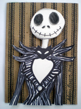 Nightmare Before Christmas-Jack-3D Effect ATC