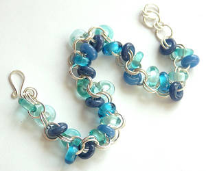 Lampwork Bracelet in Blue by sarahhornik
