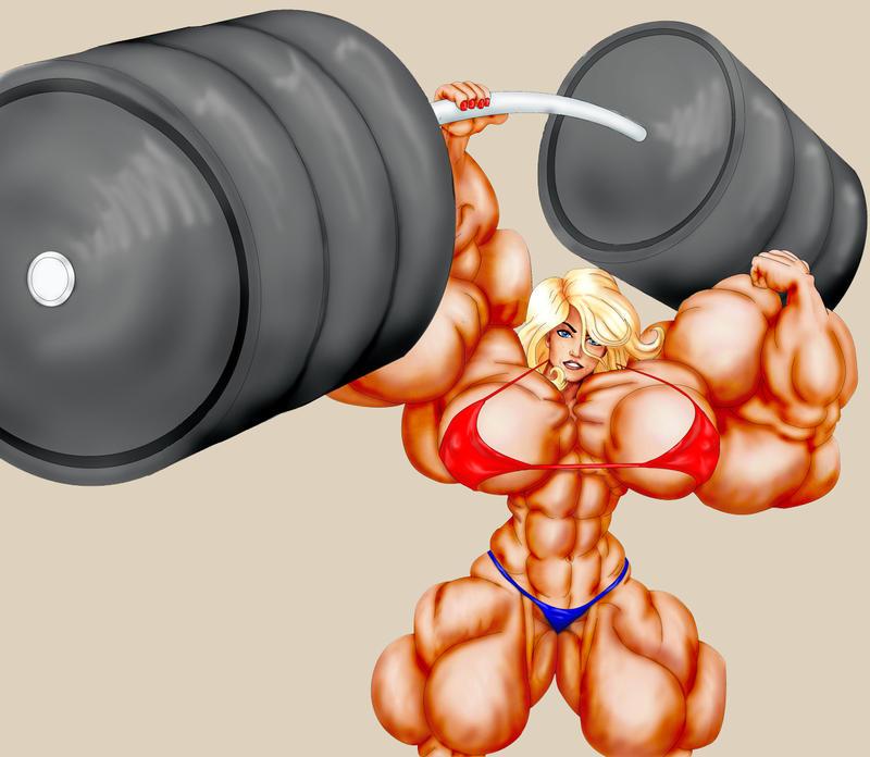 Huge Wonder Girl lifting by carlobono