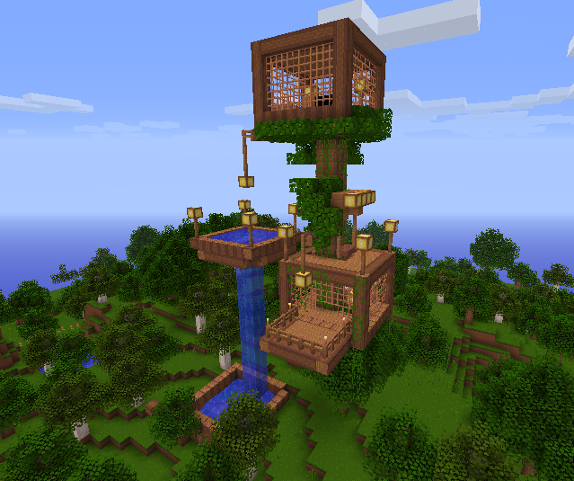 Zorinvladimir56 MINECRAFT AWESOME TREE HOUSE DOWNLOAD
