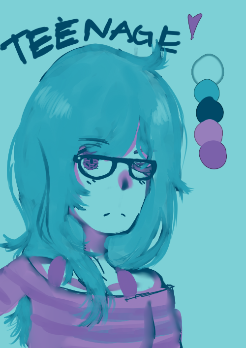 New Haircut + Color Palette Challenge by TeenageLover101