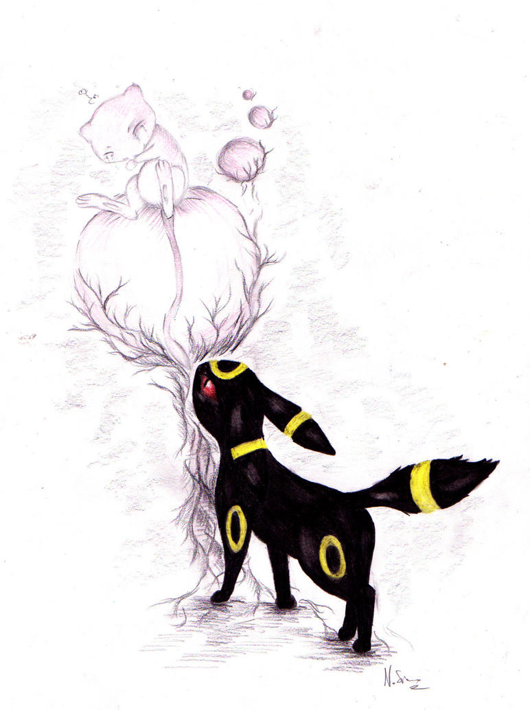 Mew And Umbreon Umbreon and Mew by rahless