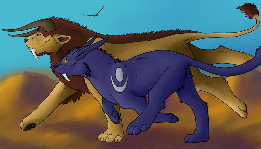 World of Warcraft Druids by Kaashtian