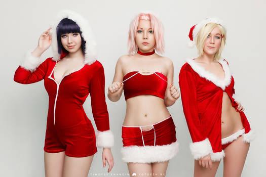 Hinata Ino Sakura cosplay by Milena104