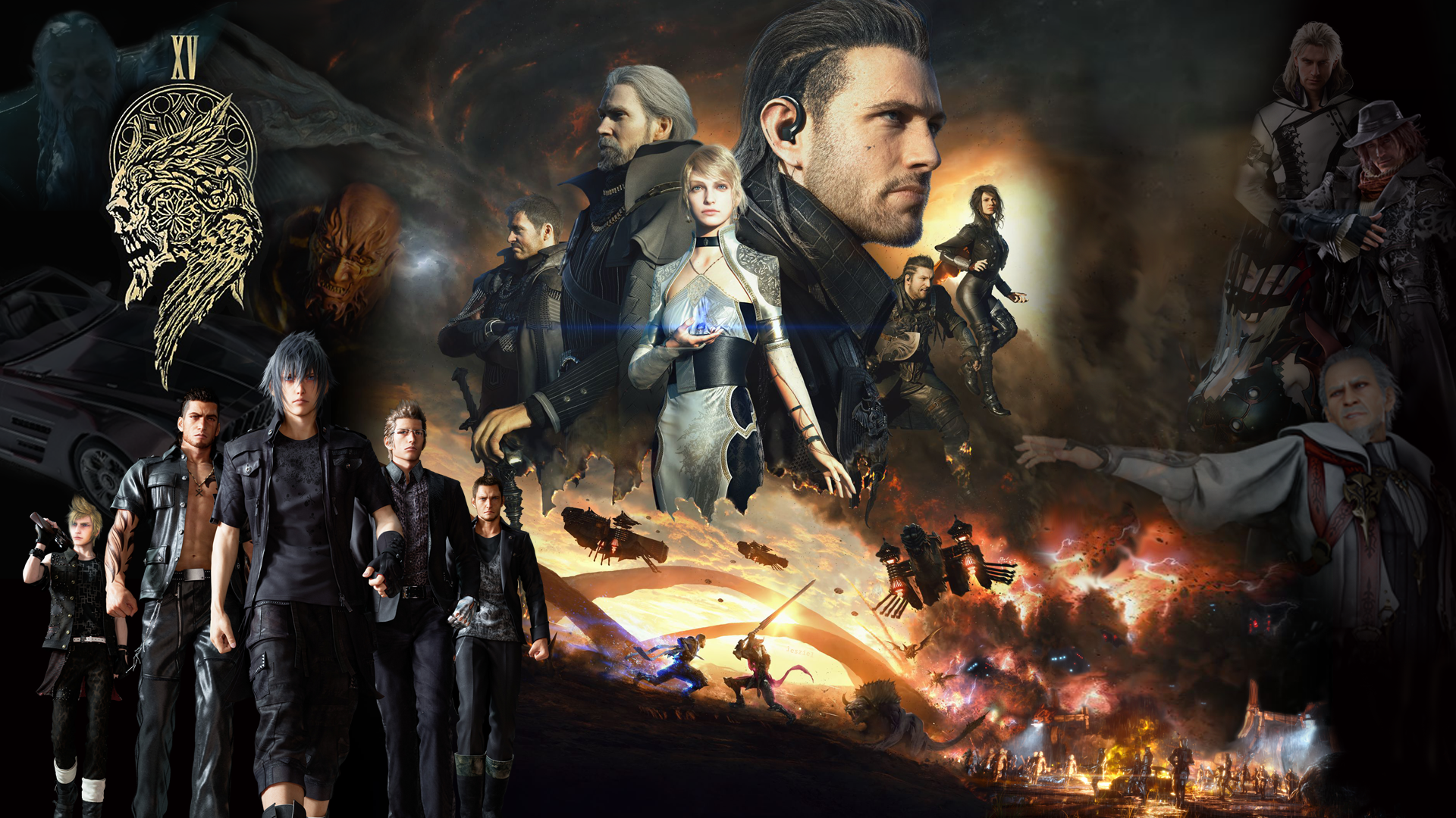 Final Fantasy Xv Universe Wallpaper 1080p By Realzeles On Deviantart