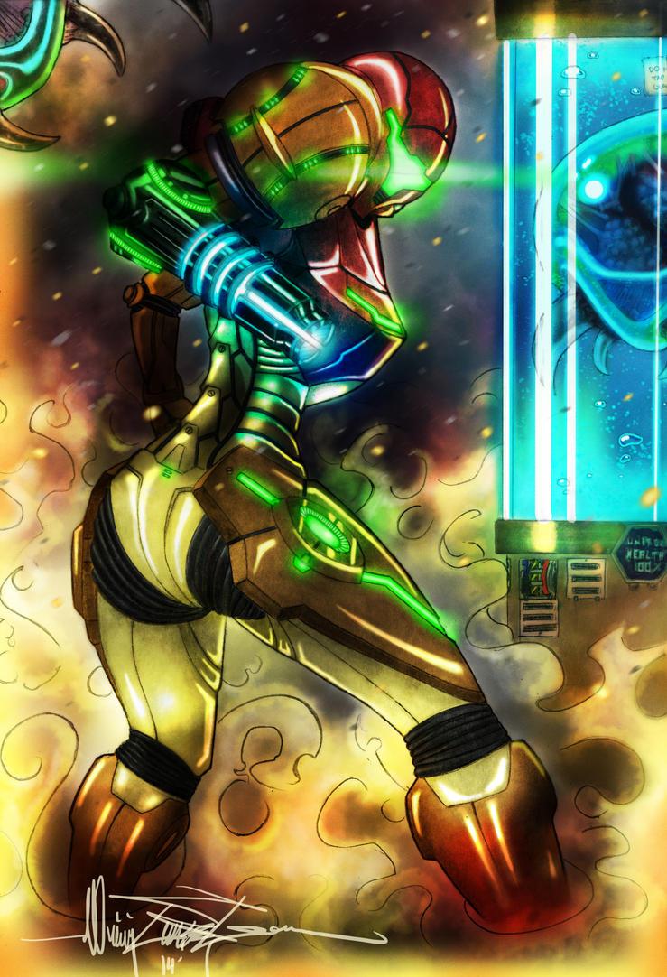 Samus Aran - Metroid Hunter by BlitzJaeger