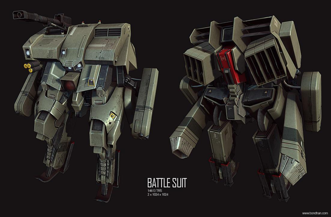 Battle suit by redblackhood