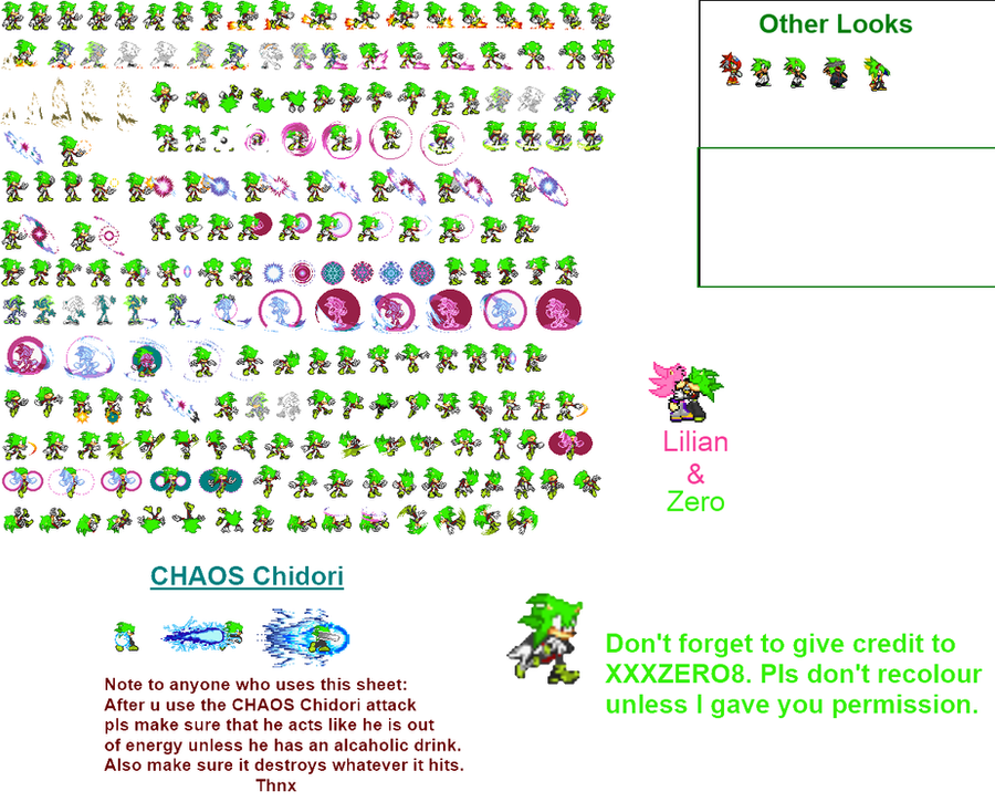 Zero Sprite sheet Updated by XXXZERO8