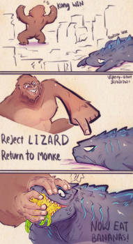 L I Z A R D and Monke