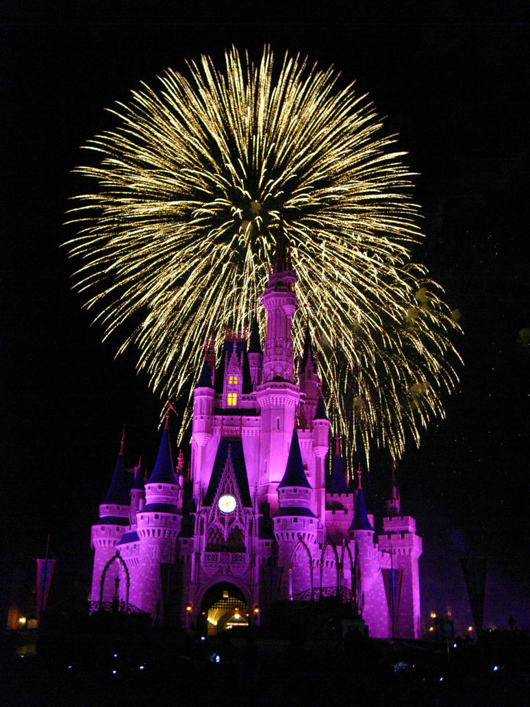 the gallery for gt disney castle with fireworks wallpaper