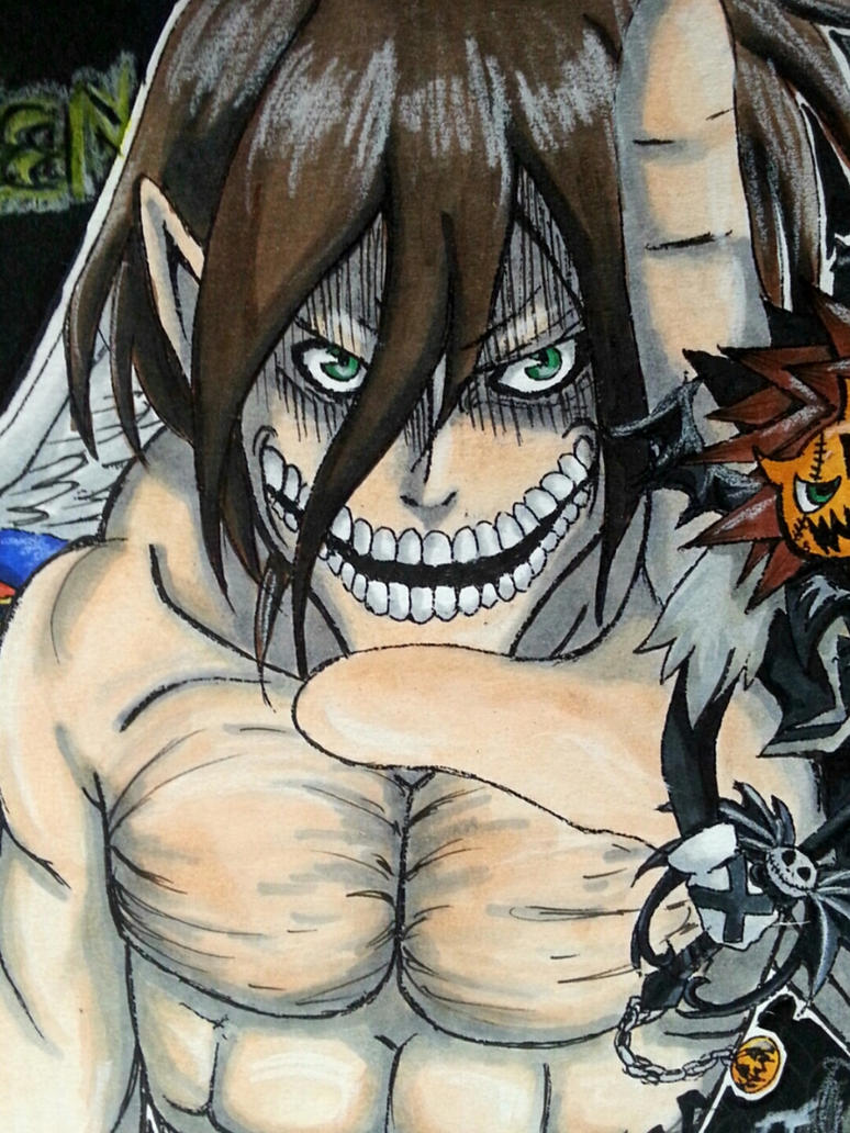 Attack on Halloween - Eren Yeager by 6wendybird91