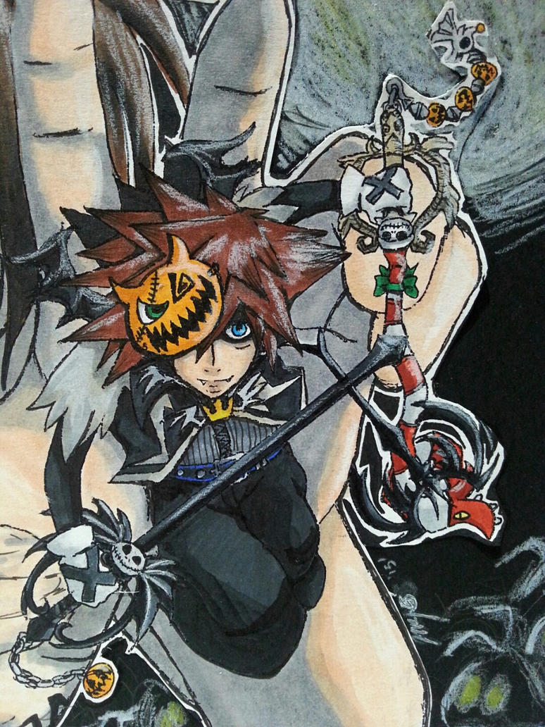 Attack on Halloween - Sora by 6wendybird91