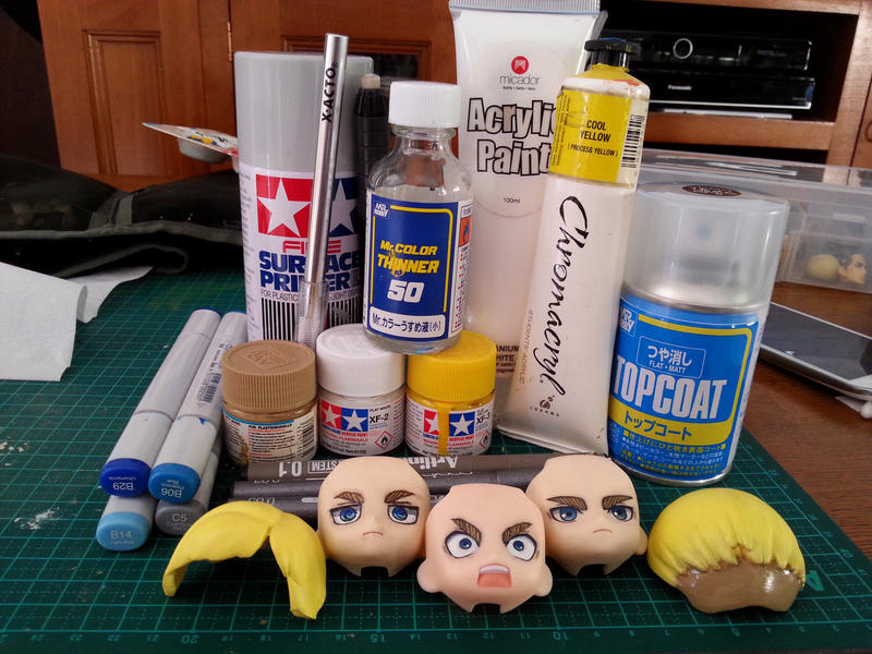Custom Nendoroid Erwin Smith (faces) by 6wendybird91
