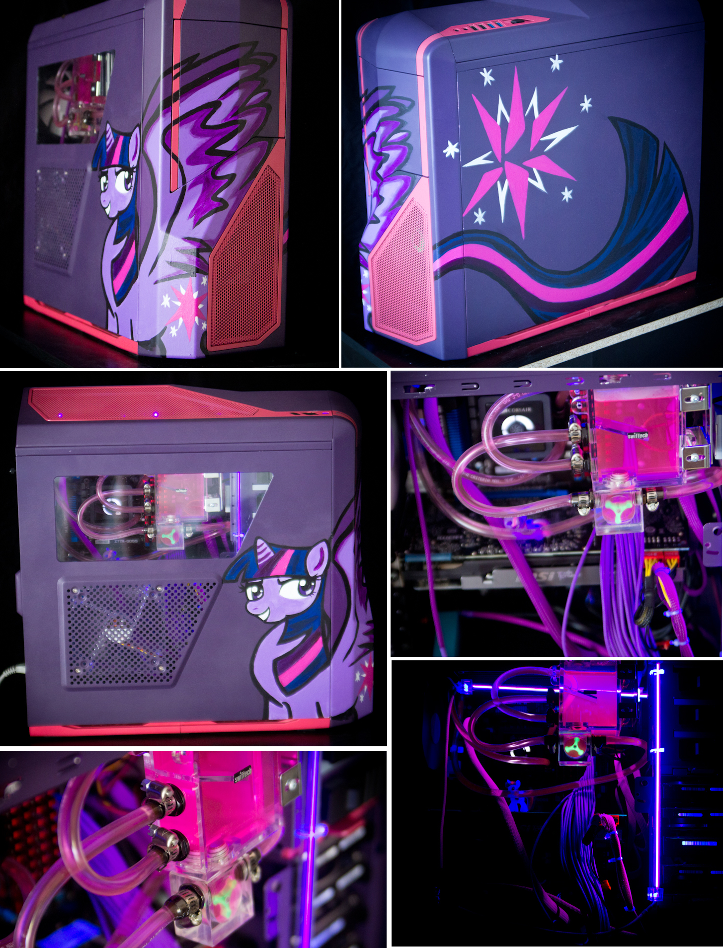 Twilight Sparkle Custom Liquid Cooled Gaming PC By Tao