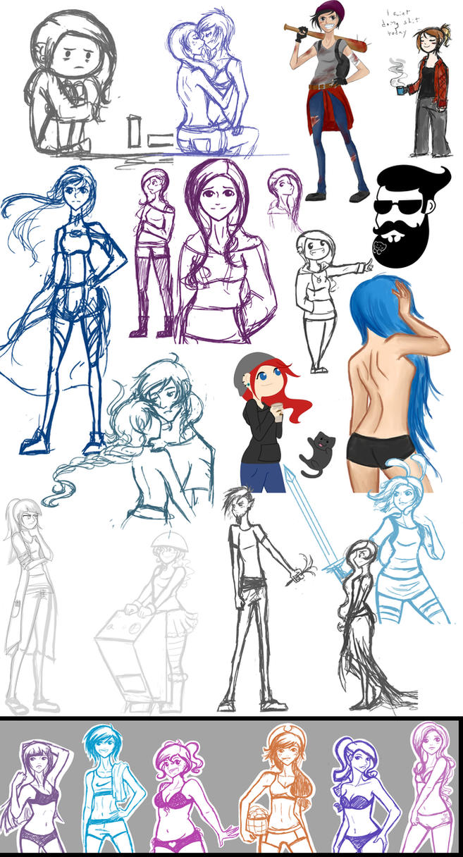 Yup. That's a sketchdump. by Tao-mell
