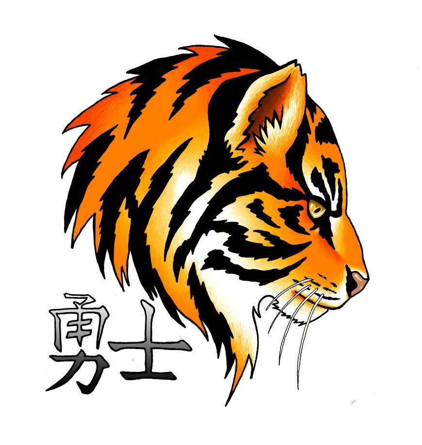 tiger tattoo design by erithel on deviantart. Black Bedroom Furniture Sets. Home Design Ideas