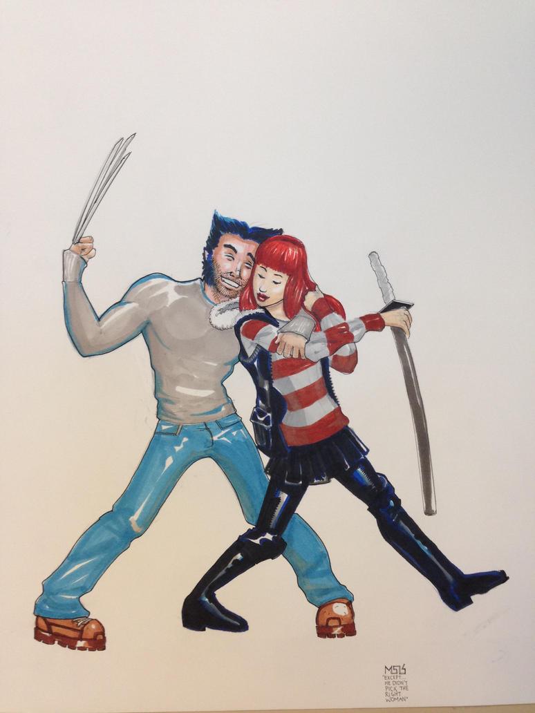 Wolverine and Yukio by nixkuroi