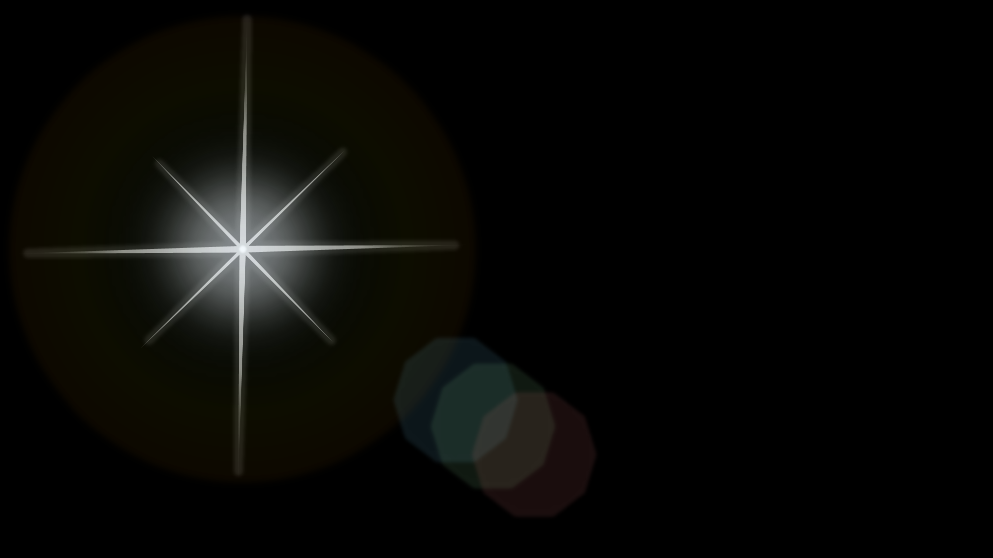 light glare effect on black background by