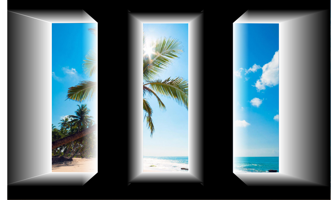Beach View Window Set by MephilesTheDark2182