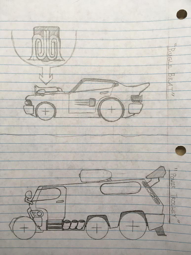 Bugle Brat and Power Trolley Art by MephilesTheDark2182
