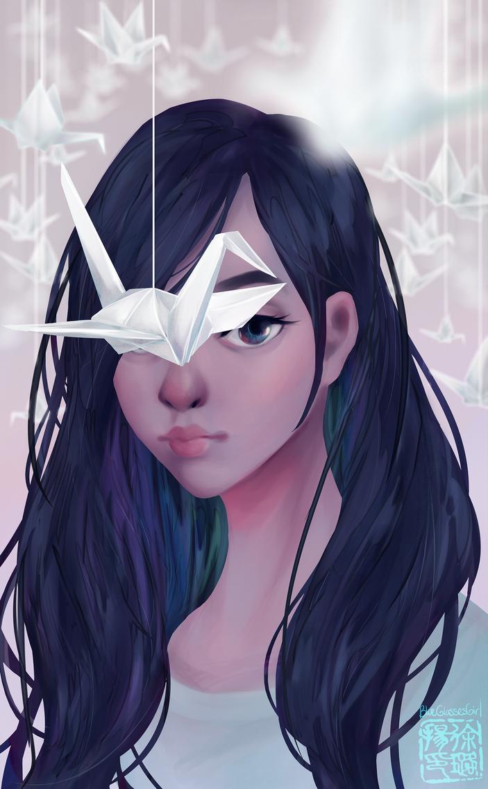 Paper Crane by BlueGlassesGirl