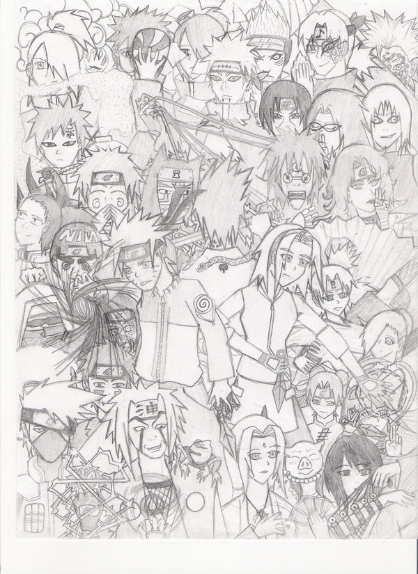 Naruto Shippuden Characters by ~Artgirl14 on deviantART