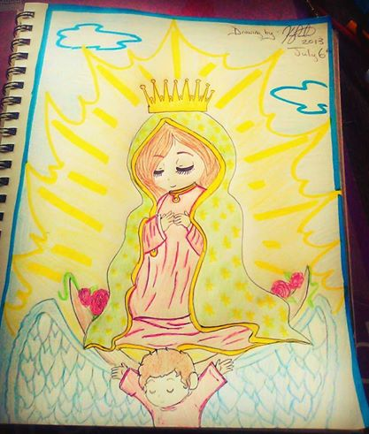 Chibi Virgin Mary by sisterz1679