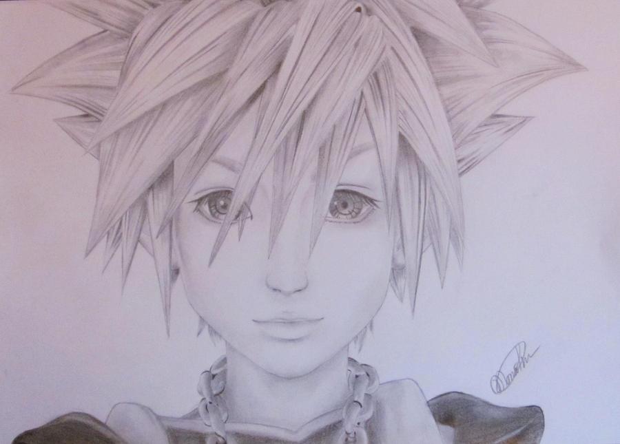 Sora Kingdom Hearts Lineart : Kingdom hearts sora lineart by nesokaiyoh on deviantart