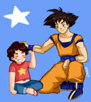 [Comission] Steven Universe and Goku
